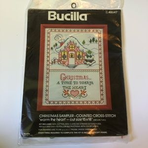 Bucilla Christmas Warm The Heart Cross Stitch Kit